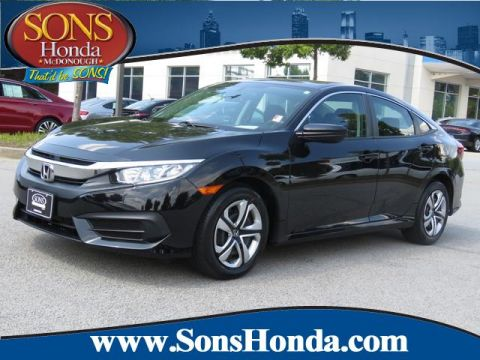Certified Pre-Owned 2016 Honda Civic Sedan LX Front Wheel Drive 4dr CVT LX
