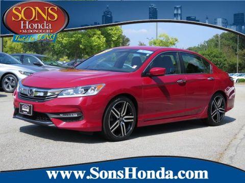Certified Pre-Owned 2017 Honda Accord Sedan Sport SE Front Wheel Drive Sport SE CVT